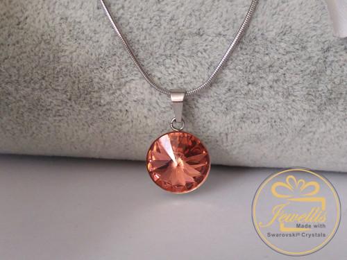 Ocelový náhrdelník Swarovski - Blush Rose