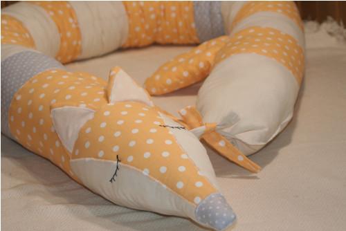 Textilní liška - mantinel, hnízdečko