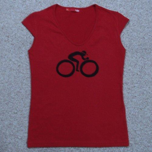 Červený cyklista XL - SLEVA z 250,- Kč