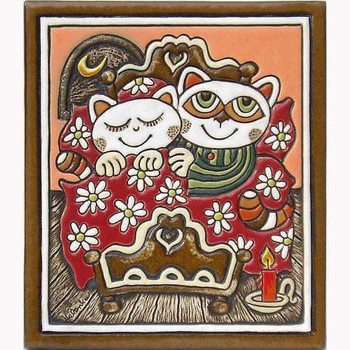 Keramický obrázek - Manželé K-135-R-CE