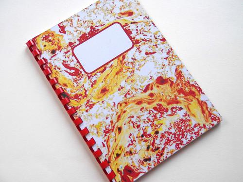 Červeno-žlutý autorský zápisník A5