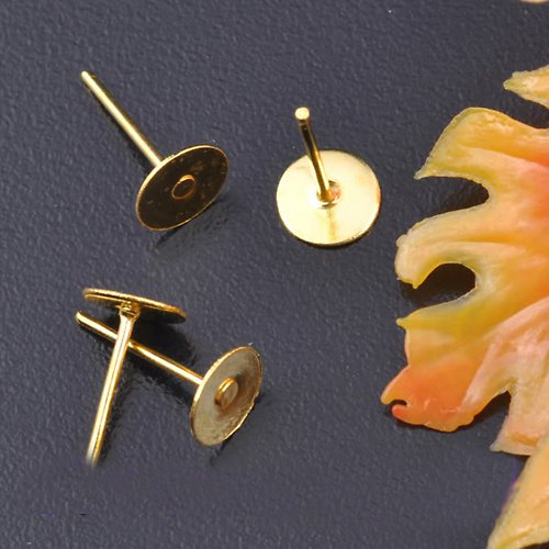 Puzetky 4x12 mm - 10ks - zlaté
