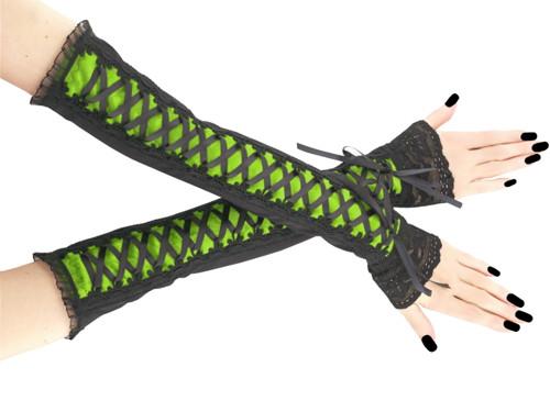 Společenské dámské rukavice zelené gothic 0R11