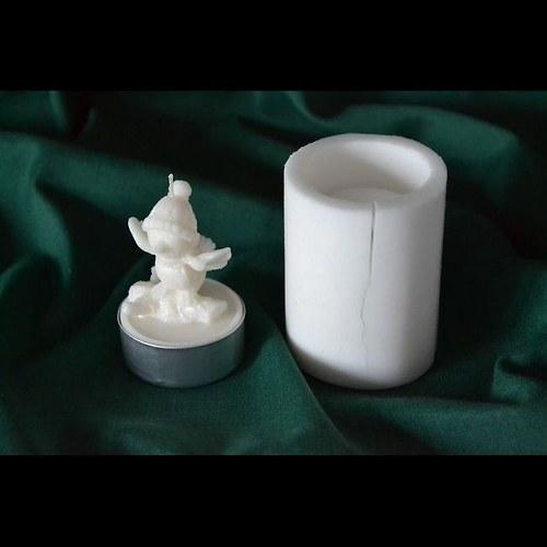 Silikonová forma na čaj. svíčku - Ptáček