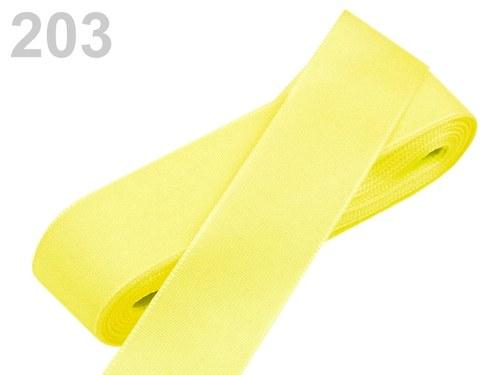 10 m taftové stuhy, barva světle žlutá
