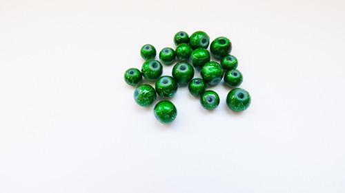 zelené perle 19 ks