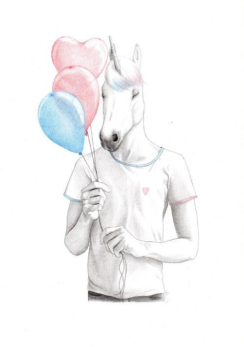Chci být jednorožcem...s balonky