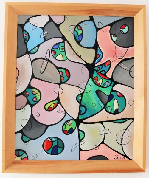 Obraz 50x40cm v dřevěném rámu