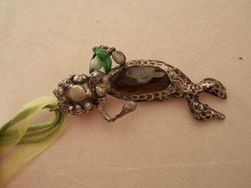 cínovaný šperk MOŘSKÁ PANNA s medůzou