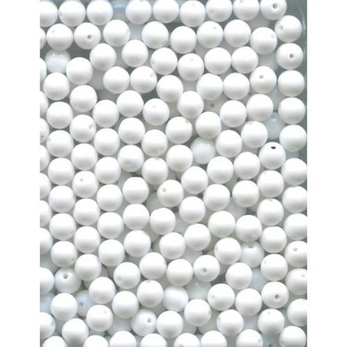 České korálky 4mm - bílá perleťová (100ks)
