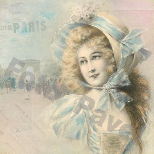 Vintage motiv -  dáma - Paříž 10