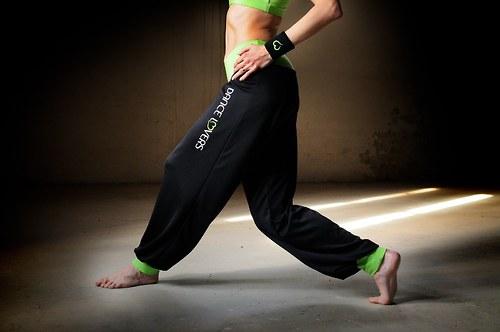 Sportovní funkční kalhoty Primary black lime
