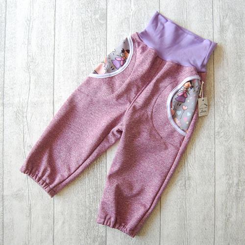 Dětské softshell kalhoty princezny vel.86