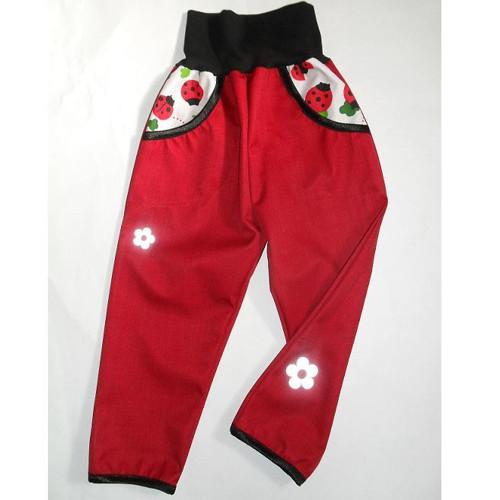 dětské  jarní softshellové  kalhoty 28
