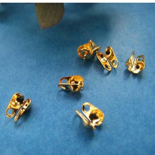 Koncovka na kuličkový řetízek zlatá 8x6mm 100ks