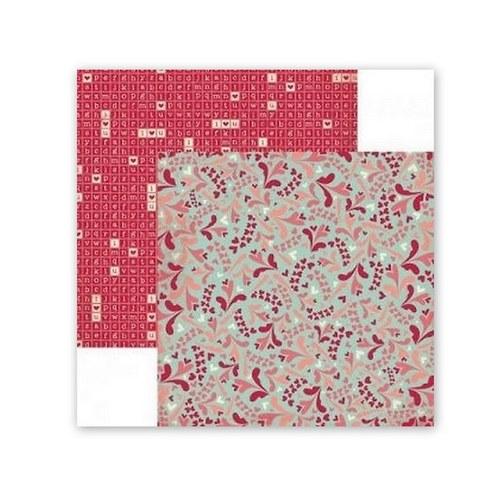 Scrapbookový papír BoBunny / Love letters Puzzle