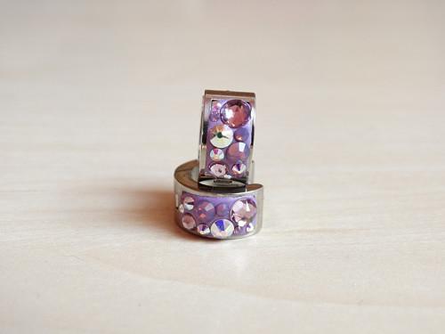 Violet- crystal AB kreolky z chirurgické oceli