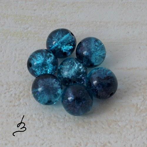Kuličky 10 mm modročerné - 8 ks