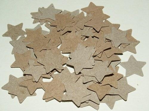 Hvězdy malé - hnědé výseky (100 ks)