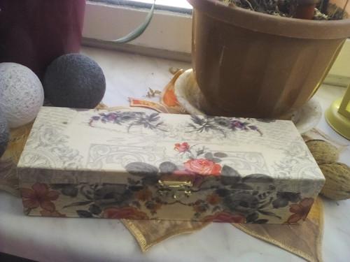 šperkovnice vintage růže