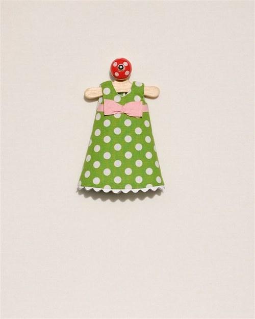 zelené šaty lentilky (velikost S)