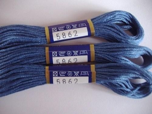 Vyšívací příze mouline - ocelová modrá