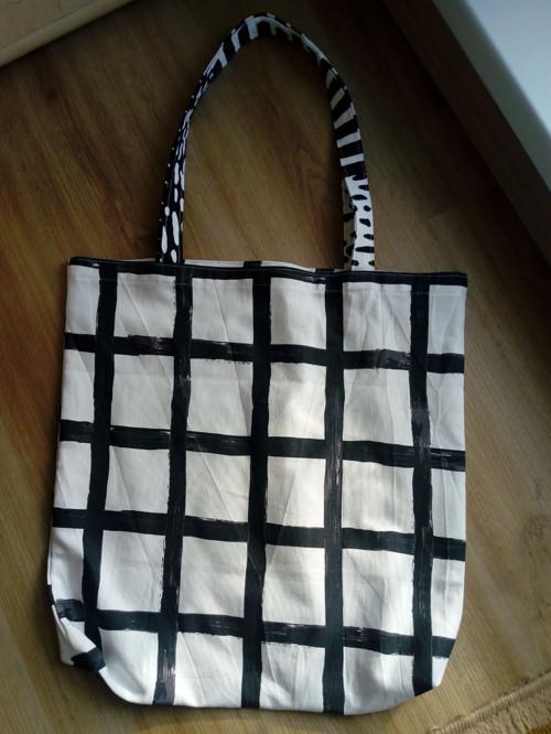 nákupní taška Černobílá