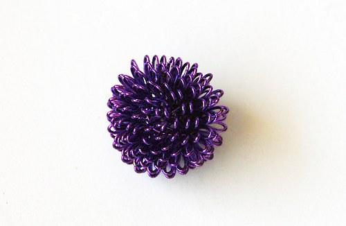 Kulička z drátku - fialová
