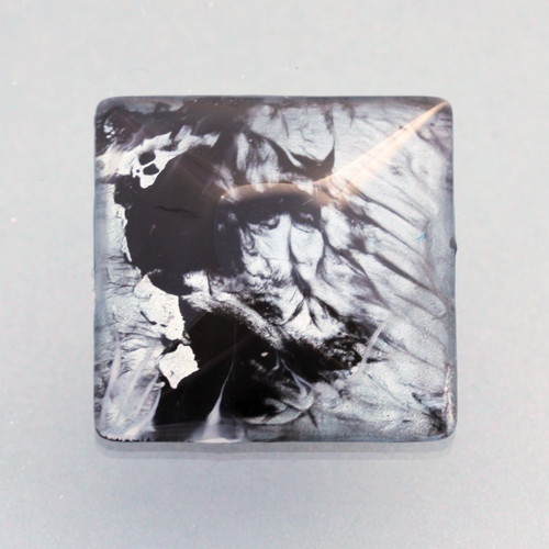 Kabošon: sklo, čtverec 3*3 cm