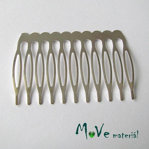 Hřeben kovový do vlasů 40x60mm 1ks, platina