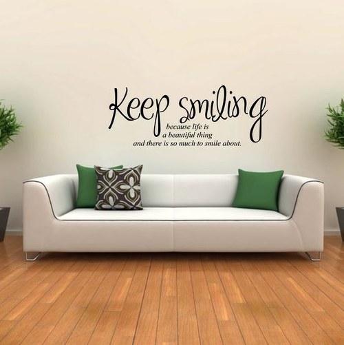 94x35cm  Nálepka  Keep smiling (3451n)