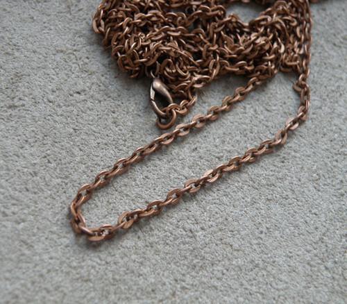 Pevný měděný řetízek 78 cm
