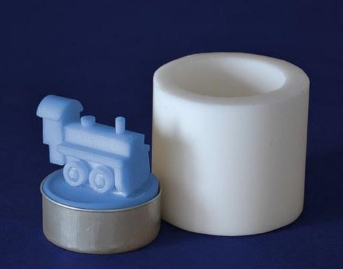 Silikonová forma na čaj. svíčku - Mašinka