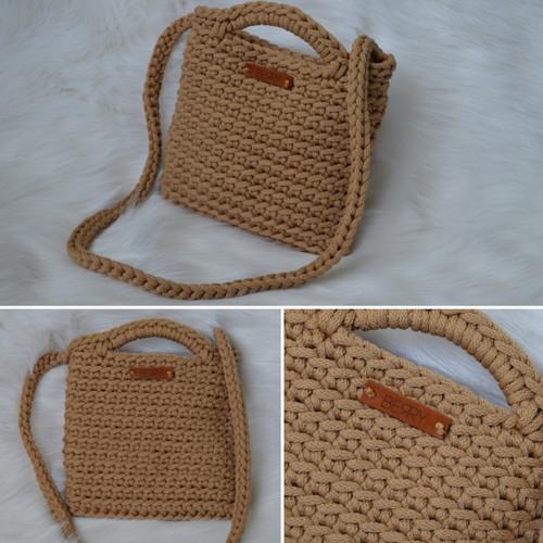 CrosBERRY kabelka - světle hnědá