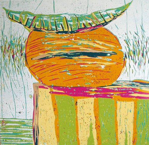 Zátiší s pomerančem