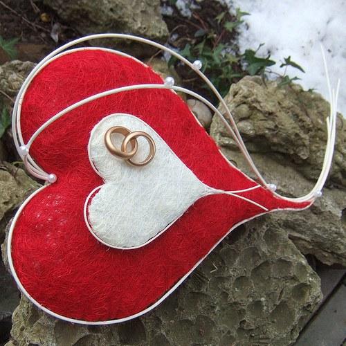 Srdce-Červená a bílá