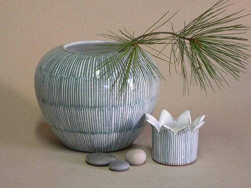 Váza kulatá - proužky