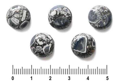 Černá zlomková kolečka, 13 mm, 3 ks