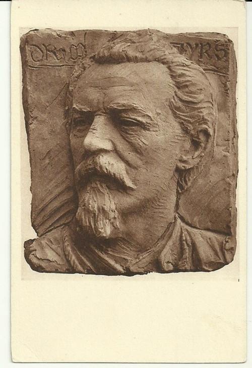 Umělecká pohlednice socha Dr.Mir.Tyrš