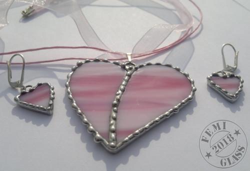 Srdíčková souprava růžová