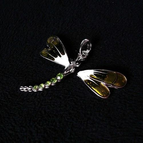 Přívěšek vážky s kamínky (2.jakost)