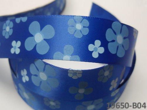 19650-B04 Stuha 22mm s květy NIVEA, svazek 2m
