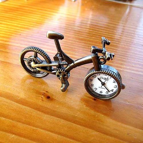 Kapesní Hodinky - Bicykl - Bronzový