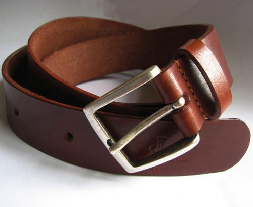 kožený pásek  - koňak