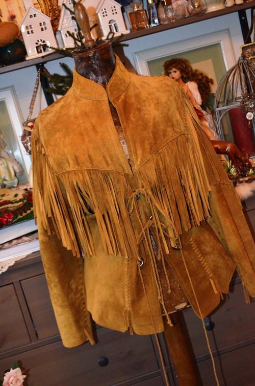 Nšoči... kožené sako westernové...