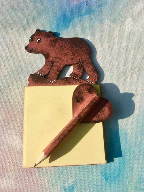 Magnetické bločky s tužkou - Medvídek