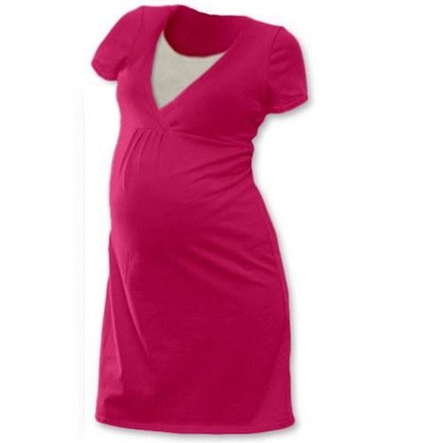 Noční košile pro kojící maminky- sytě růžová