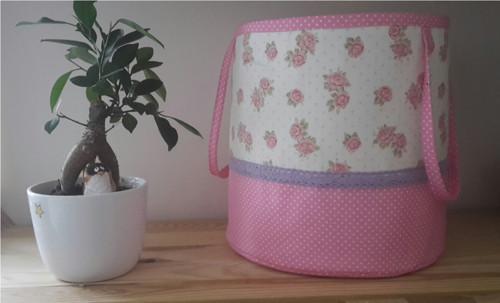 Textilní košík na hračky Růžičky