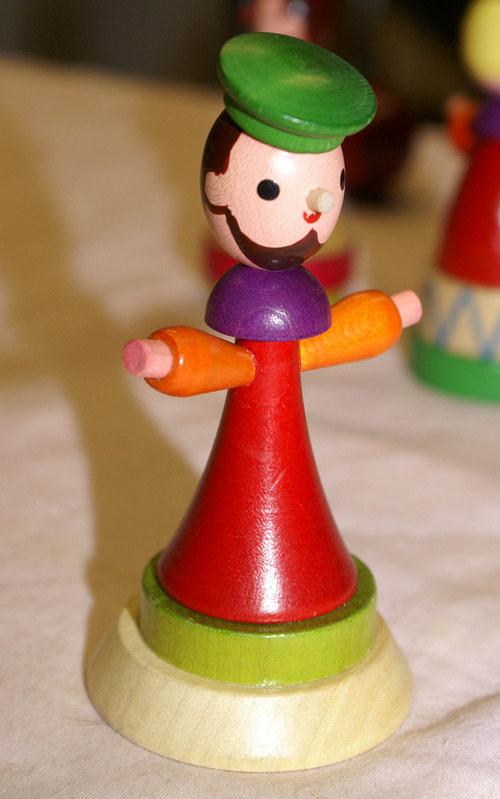 Dřevěná a malovaná recy - hračka