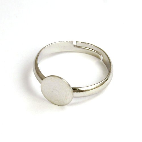 Základ na prsten platinový, lůžko 8 mm